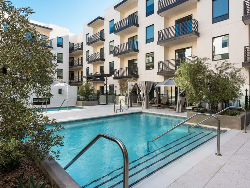 Welcoming pool area at Gramercy Scottsdale in Scottsdale, Arizona