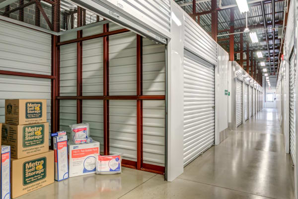 Interior climate-controlled units at Metro Self Storage in Line Lexington, Pennsylvania