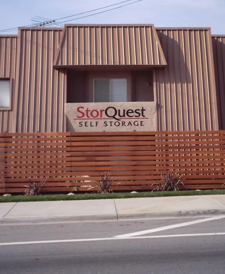 The exterior of StorQuest Self Storage in San Fernando, California