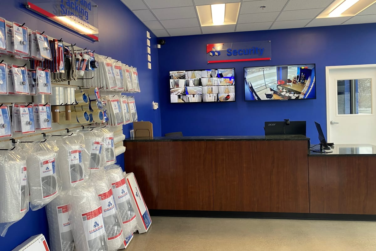 Front Desk and packing supplies at Cincinnati, Ohio at Devon Self Storage