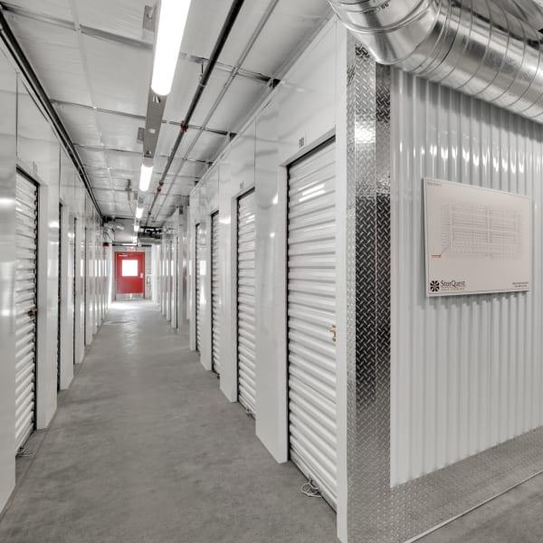 Indoor storage units at StorQuest Self Storage in Carlsbad, California