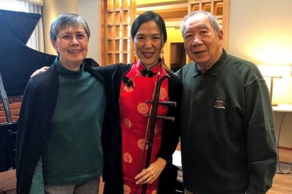 Chinese New Year Performer Xiao Dong Wei with Residents