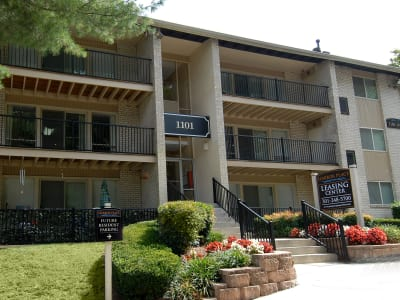 Exterior of apartments in Fort Washington, Maryland