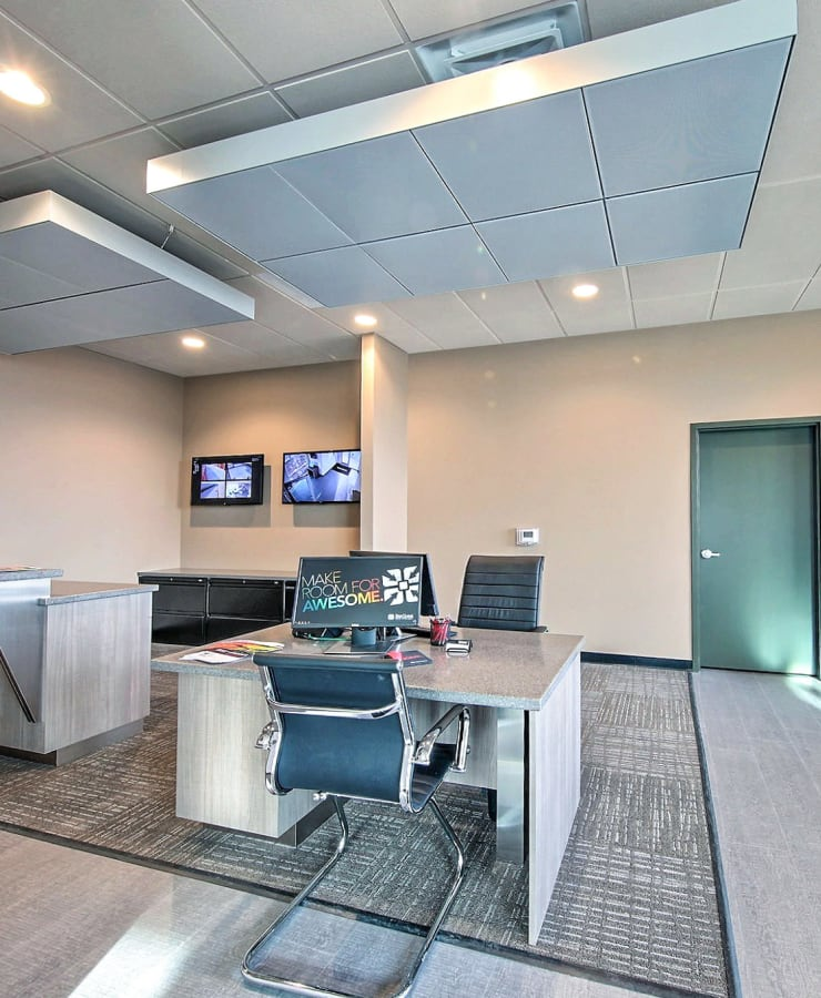 interior of the leasing office at StorQuest Self Storage in Ronkonkoma, New York