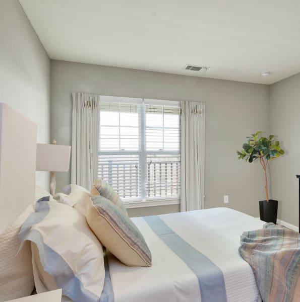 Bright master bedroom at Bradlee Danvers in Danvers, Massachusetts