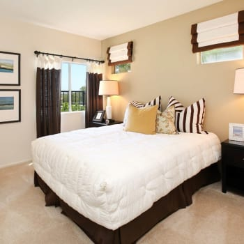 Spacious master bedroom at apartments in Mission Viejo, CA
