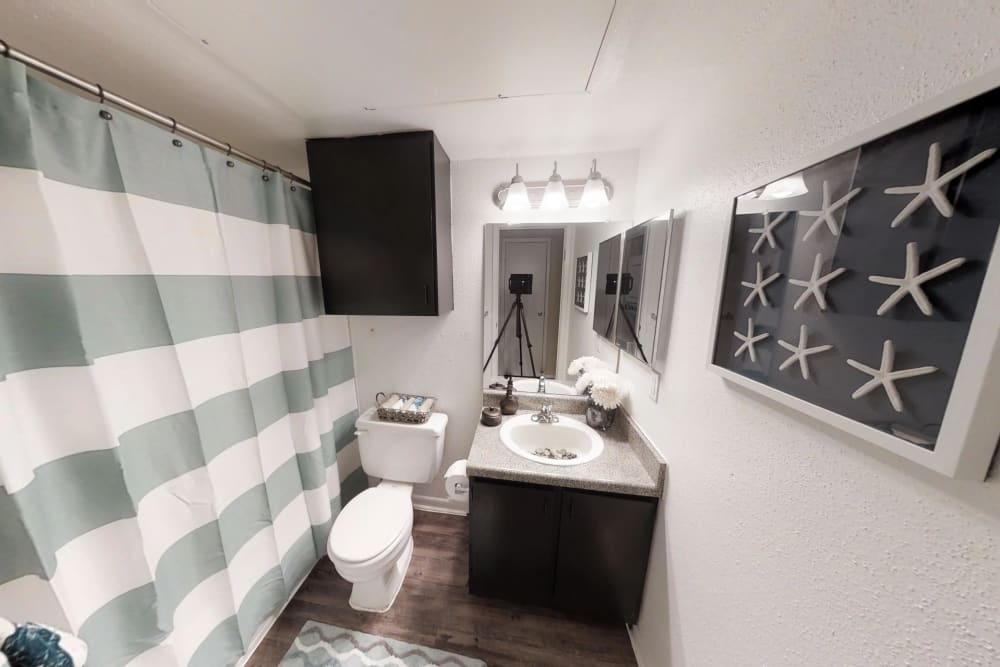 Quiet bathroom at Waterchase Apartments in Humble, Texas
