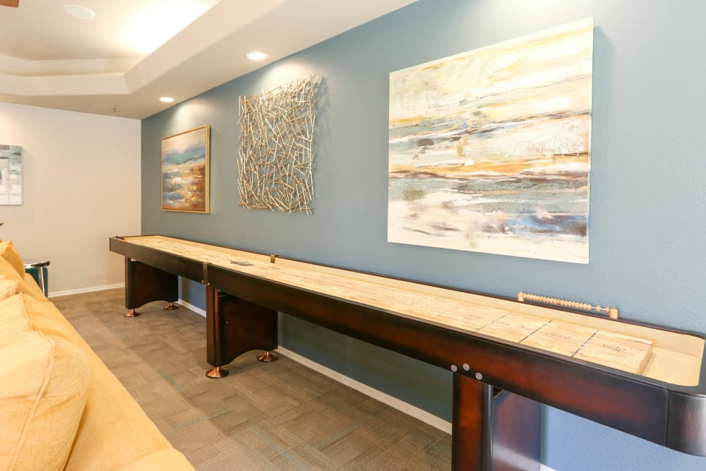 Shuffle Board Table in the Clubhouse at Tresa at Arrowhead Apartments in Glendale, Arizona