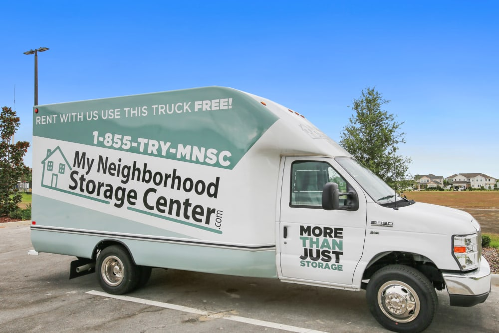 Moving truck at My Neighborhood Storage Center in Winter Garden, Florida