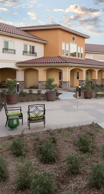 Exterior view of surrounding at Estancia Del Sol in Corona, California