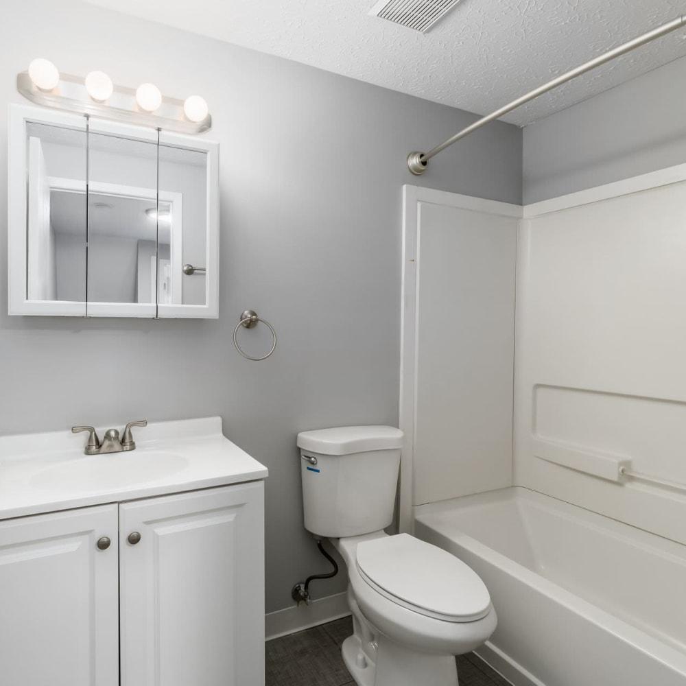 Model bathroom at Hidden Acres East in Columbus, Ohio