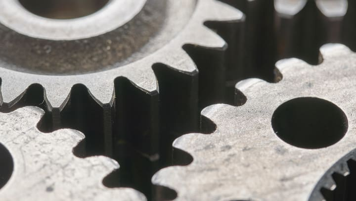 gears turning together