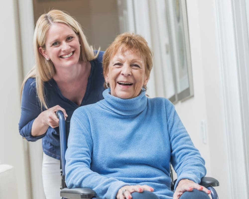 Easy use of mobility devices in apartments at Willows Landing in Monticello, Minnesota.