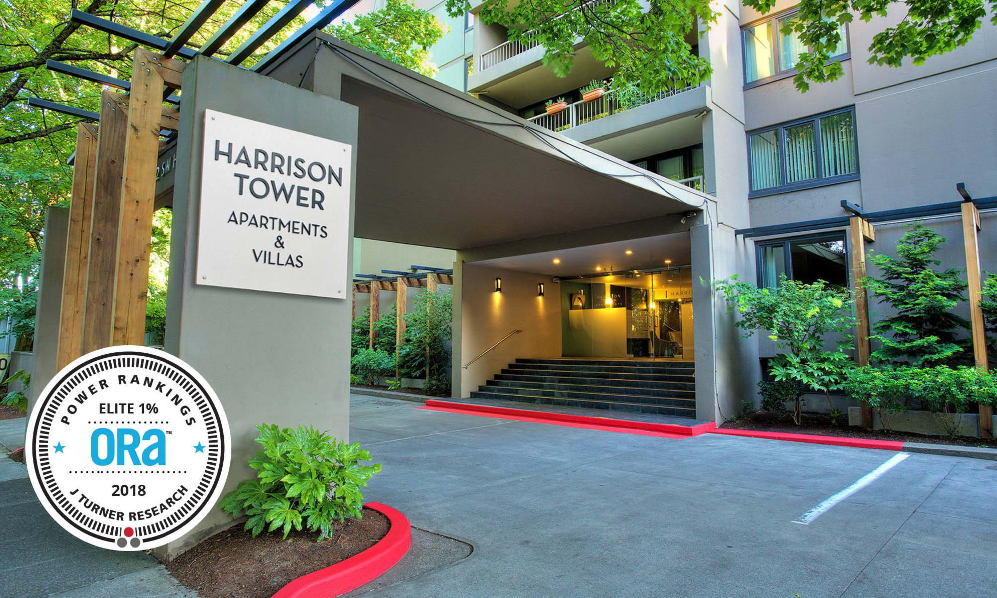 Apartments in Harrison Tower in Portland, Oregon