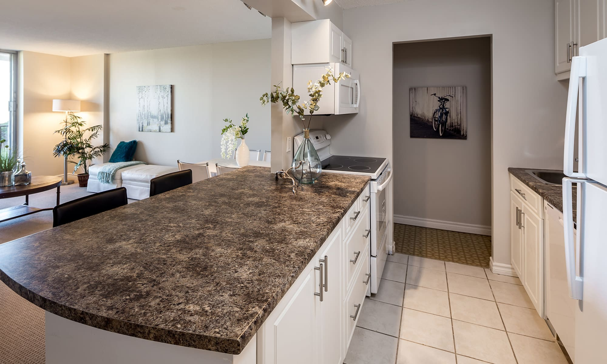 Beautiful kitchen at Cunard Apartments in Halifax