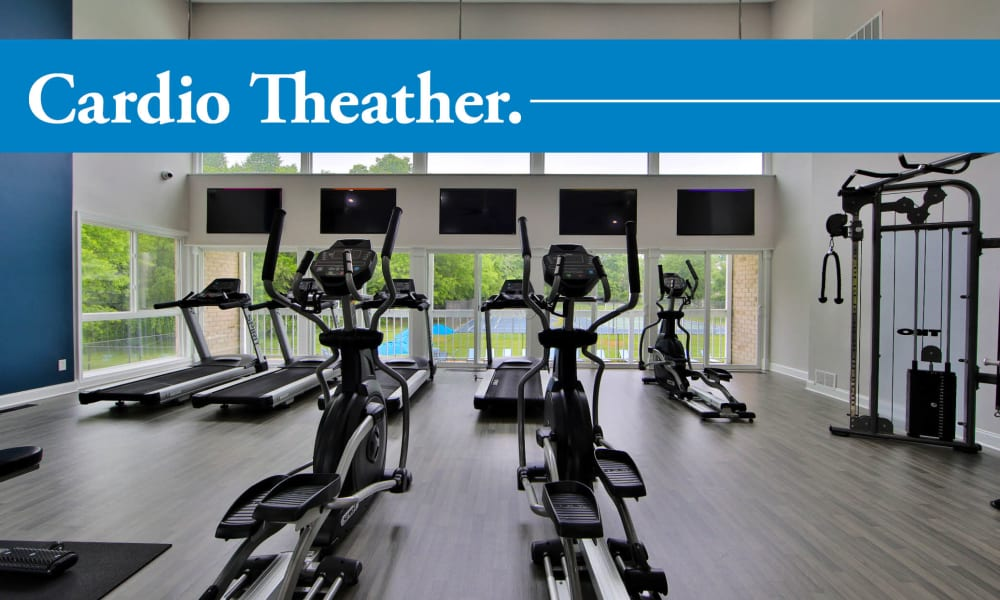 Our apartments in Largo, Maryland showcase a beautiful fitness center