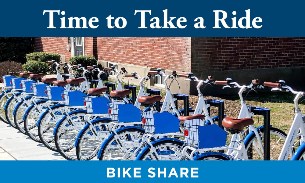 Our Apartments in Alexandria, Virginia offer a Bike Share