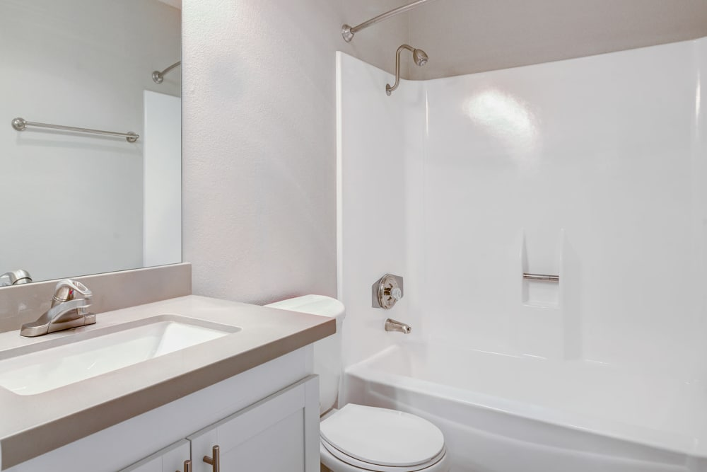 Newly Remodeled Bathroom at Alvista on Baltimore