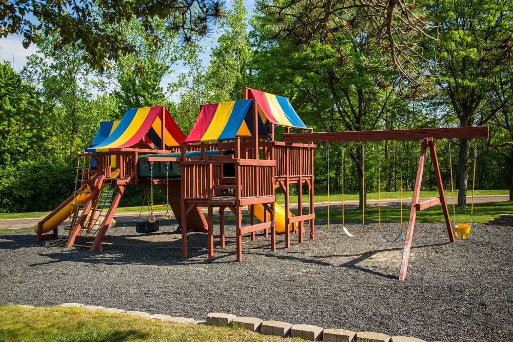 Outdoor playground at Aldingbrooke in West Bloomfield, Michigan