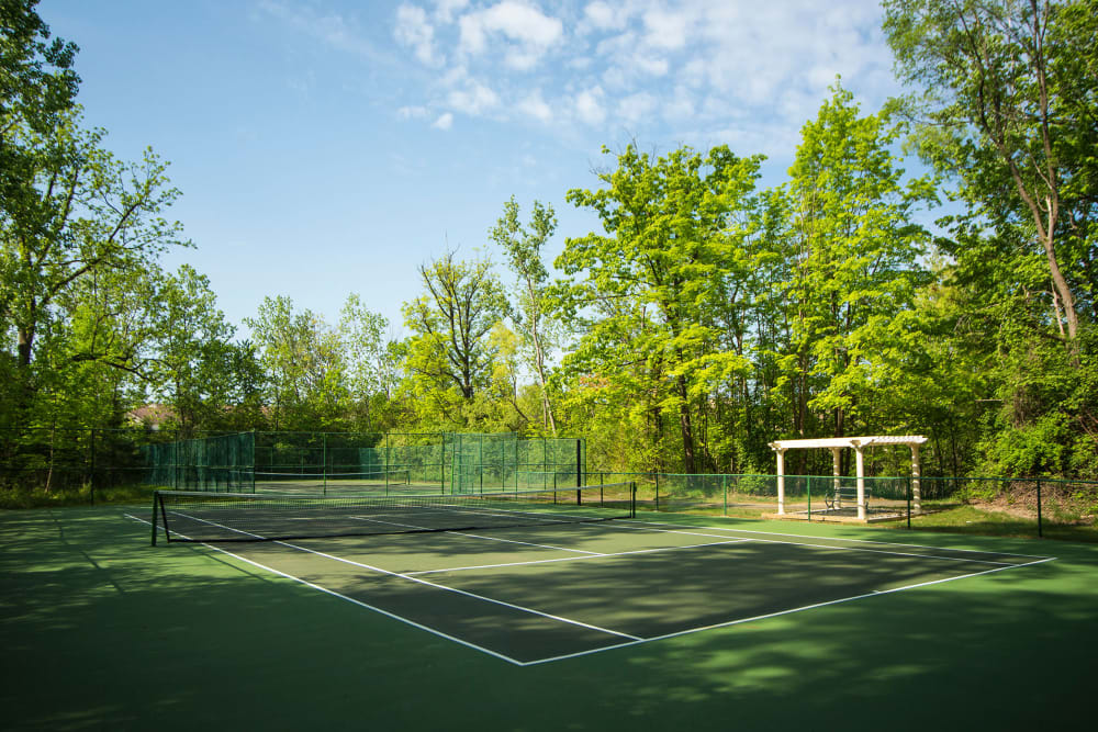 Tennis courts at Aldingbrooke in West Bloomfield, Michigan