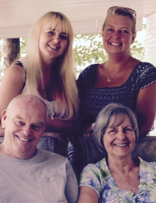 Future residents and their daughters at Inspired Living at Sarasota in Sarasota, Florida.