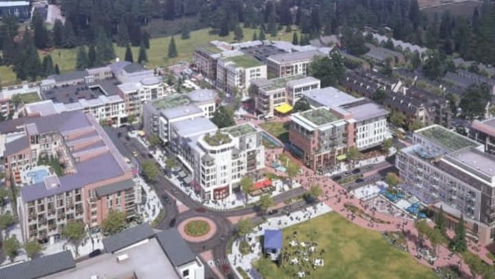 Sammamish Town Center will include Merrill Gardens senior living