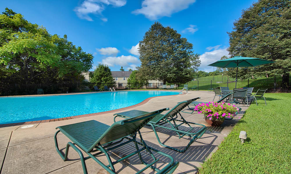 Swimming Pool at The Village of Laurel Ridge & The Encore Apartments & Townhomes in Harrisburg, Pennsylvania