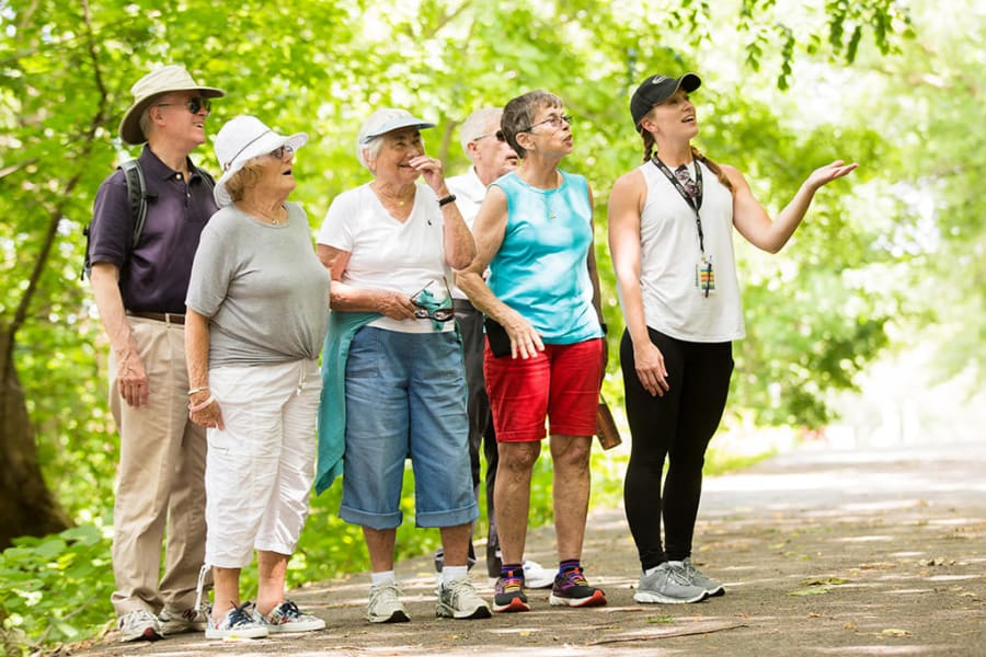 Residents from Touchmark on West Century in Bismarck, North Dakota on a hike