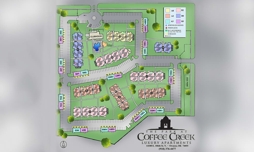 Property Site Map at Coffee Creek Apartments in Owasso, Oklahoma