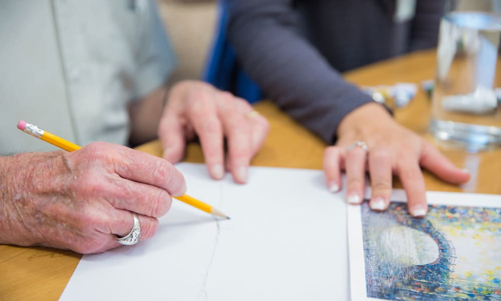 Drawing and painting at Touchmark at Fairway Village in Vancouver, Washington