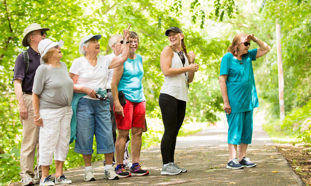Residents out on a trek at Touchmark on West Prospect in Appleton, Wisconsin
