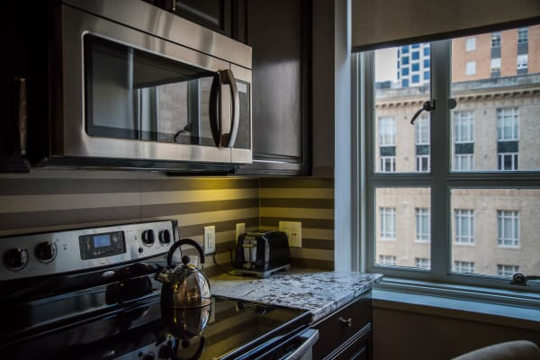 Kitchen at 400 North Ervay in Dallas, Texas