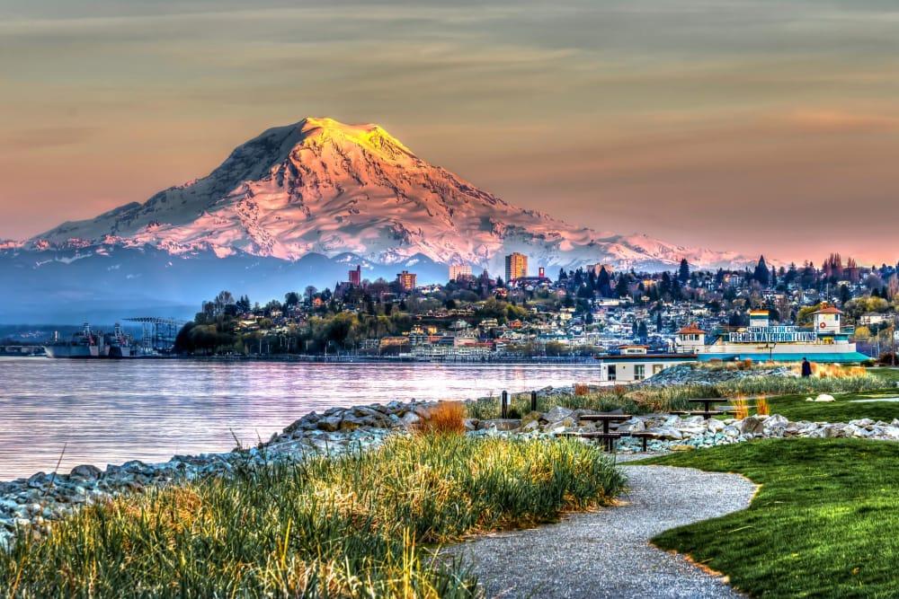 Photo of Mount Rainier near GenCare LifeStyle at Point Ruston in Tacoma, Washington