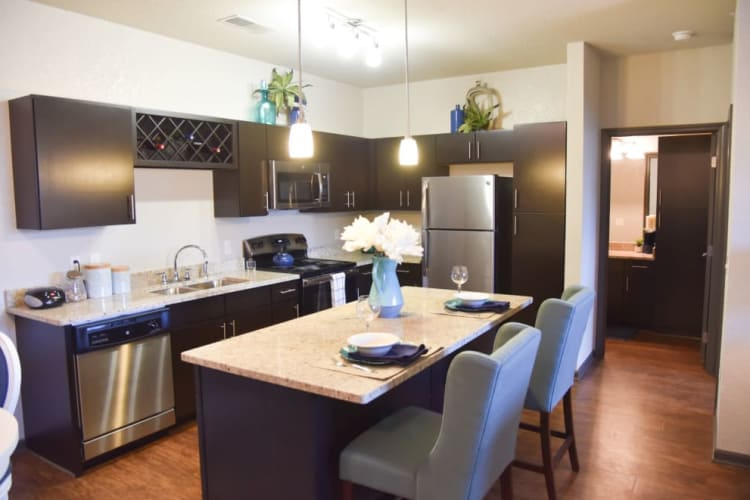 Kitchen model layout at Springs at Cobblestone Lake in Apple Valley, Minnesota