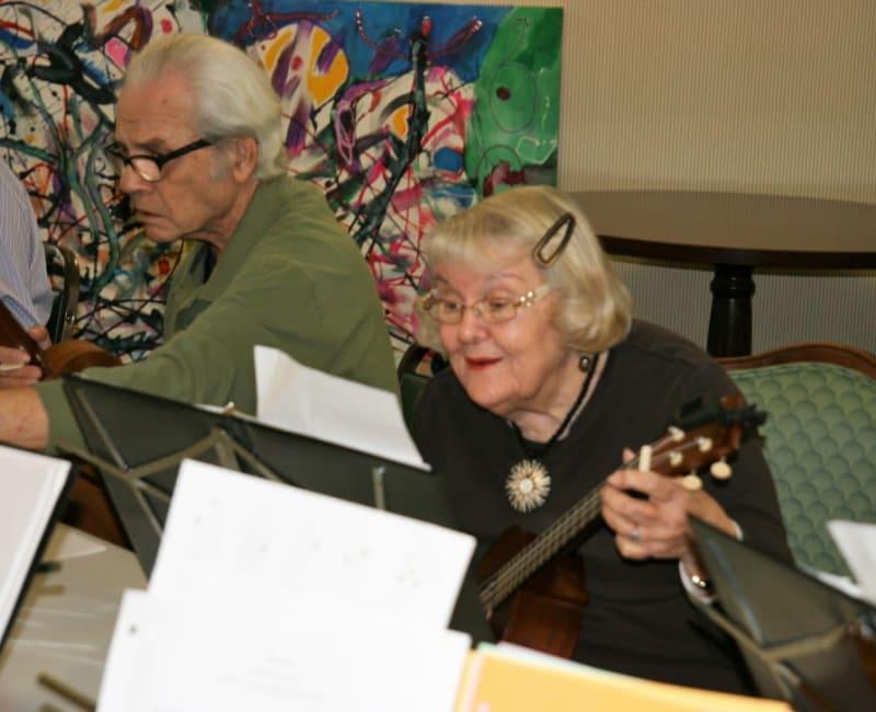 Music therapy at Ebenezer Ridges Campus in Burnsville, Minnesota