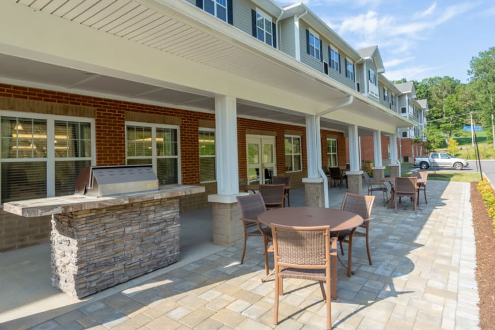 Patio at The Harmony Collection at Roanoke - Assisted Living in Roanoke, Virginia