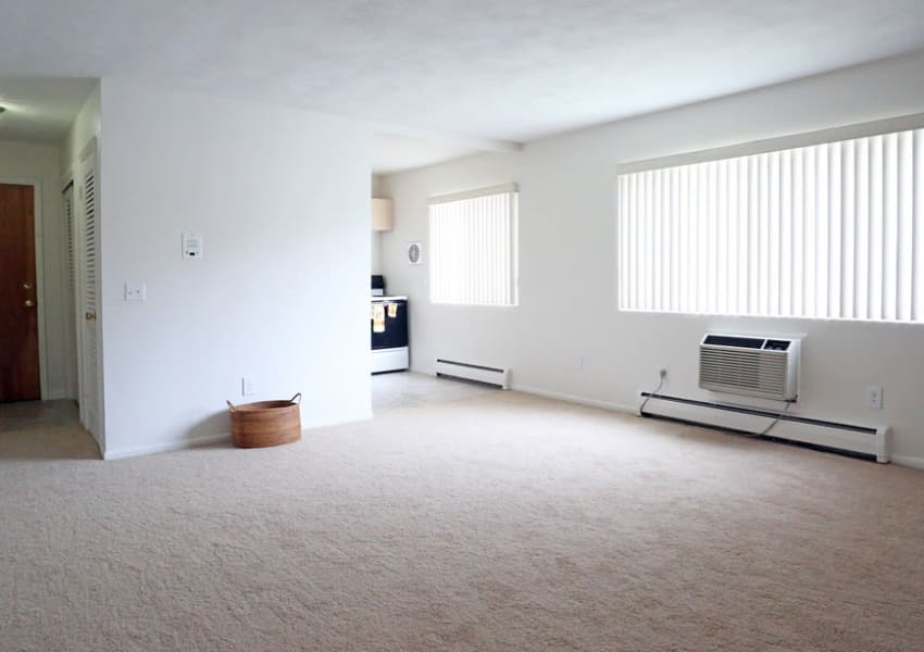 Tons of natural lighting in your living space at Elmwood Court Apartments in Rochester