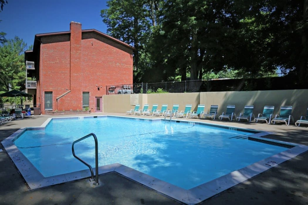 Sparkling swimming pool at Mill Creek Apartments in East Greenbush