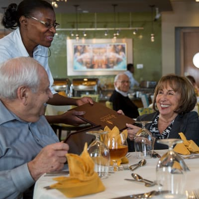 View dining options at Bella Vista Senior Living in Mesa, Arizona