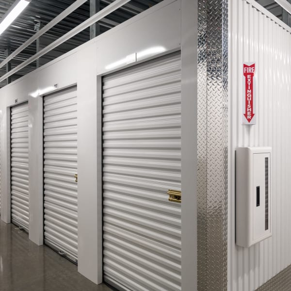 Indoor units with white doors at StorQuest Self Storage in Federal Way, Washington