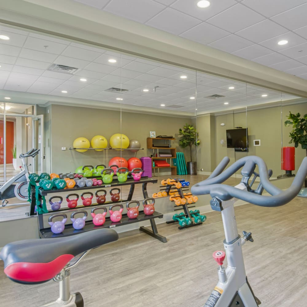 Fitness center at 401 Oberlin in Raleigh, North Carolina