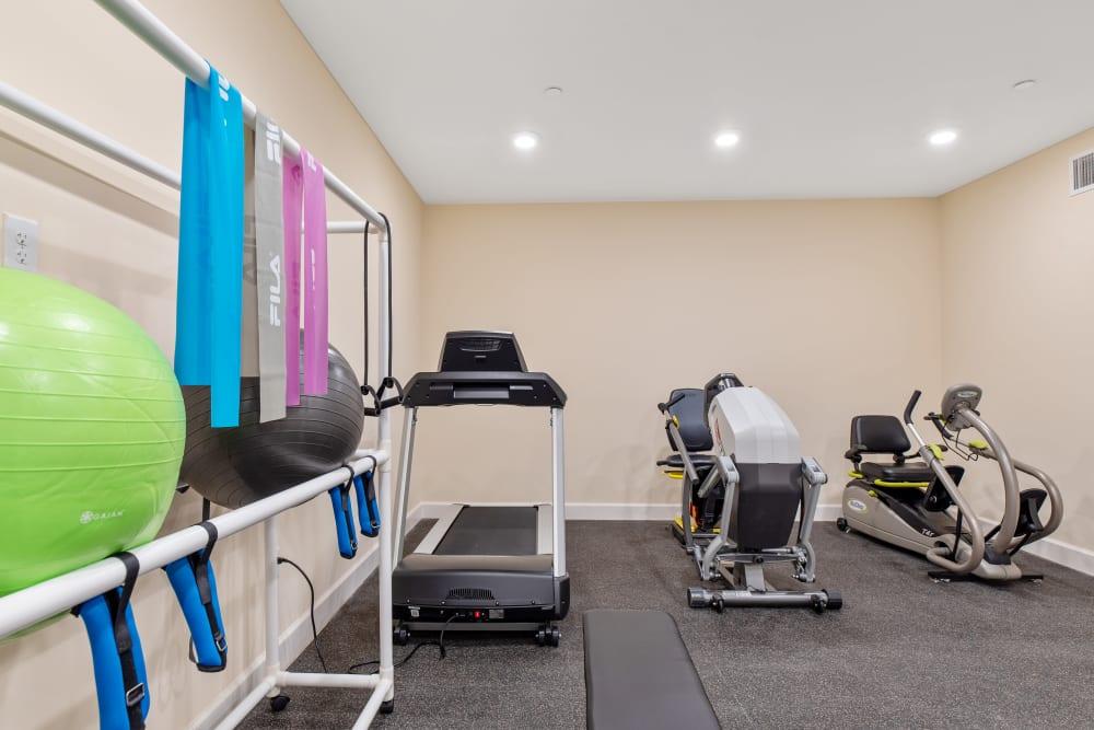 Fitness room at Harmony at Greensboro in Greensboro, North Carolina