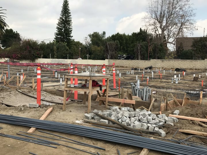 Construction Site Footings, Torrance CA