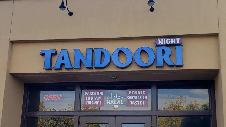 Tandoori Nights Entrance Sign