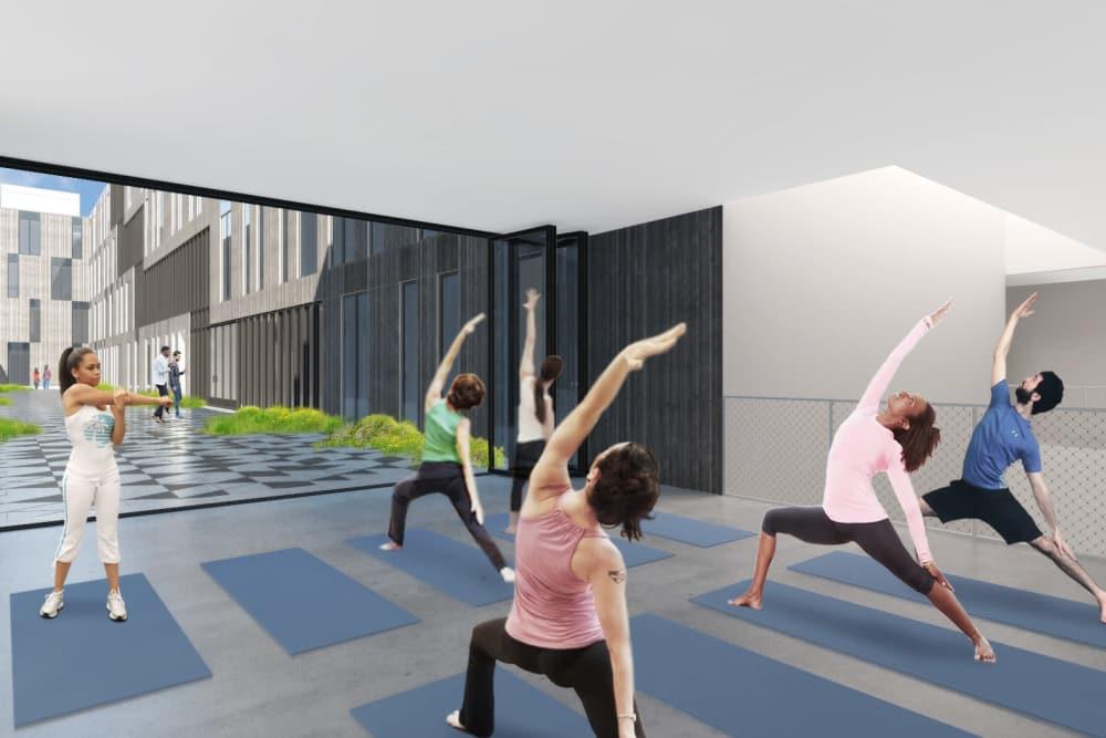 Baltimore Station yoga studio in Detroit, Michigan