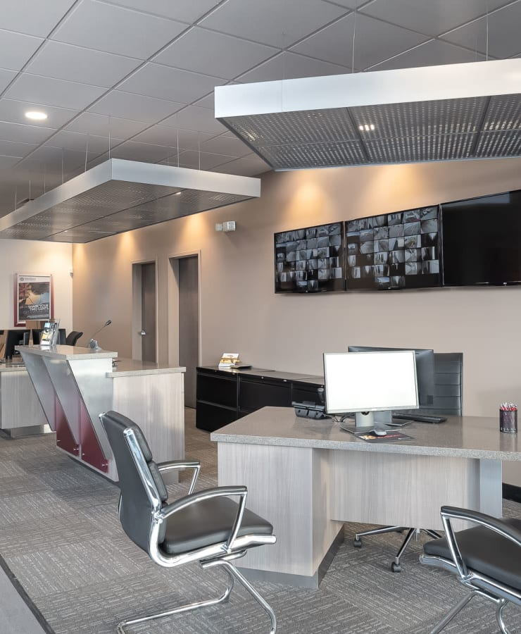 Interior of the leasing office at StorQuest Express Self Service Storage in Castle Rock, Colorado