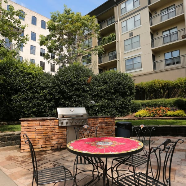 Seating and Barbeque Area at City Plaza in Atlanta, Georgia
