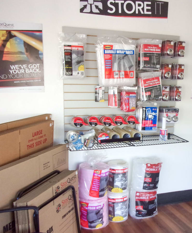 Packing supplies available at StorQuest Self Storage in San Fernando, California