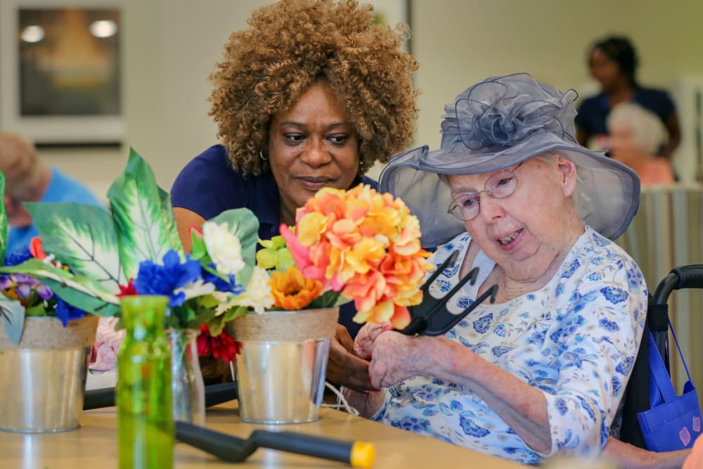 A resident and caretaker at Harmony at Spring Hill in Lorton, Virginia