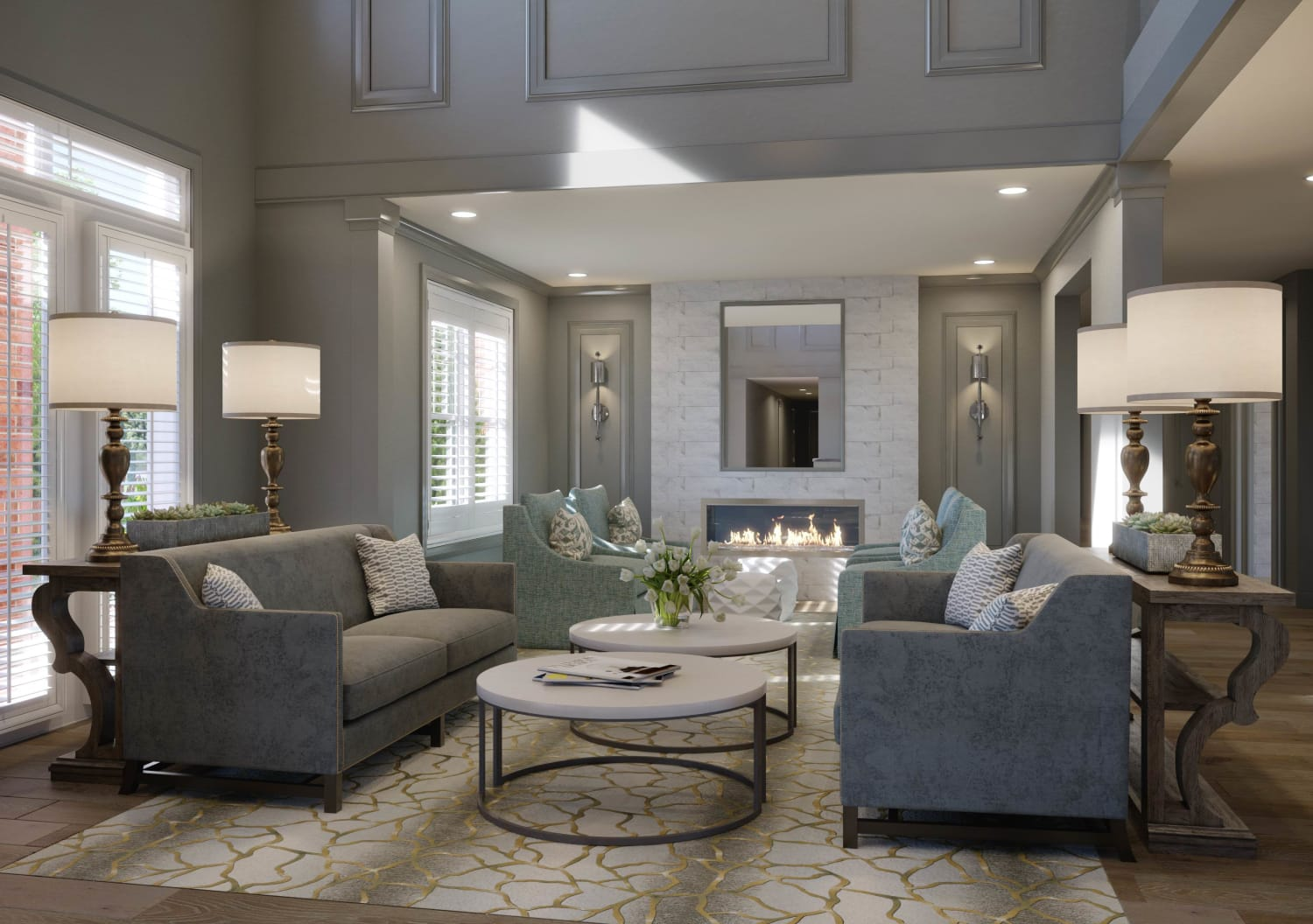 Rendering of Lounge at Avenida Cool Springs in Franklin